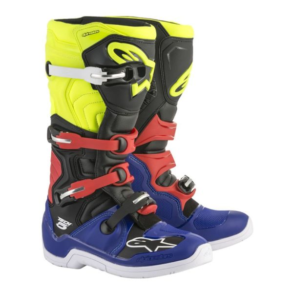 TECH 5 BOOT Blue/Red/Yellow