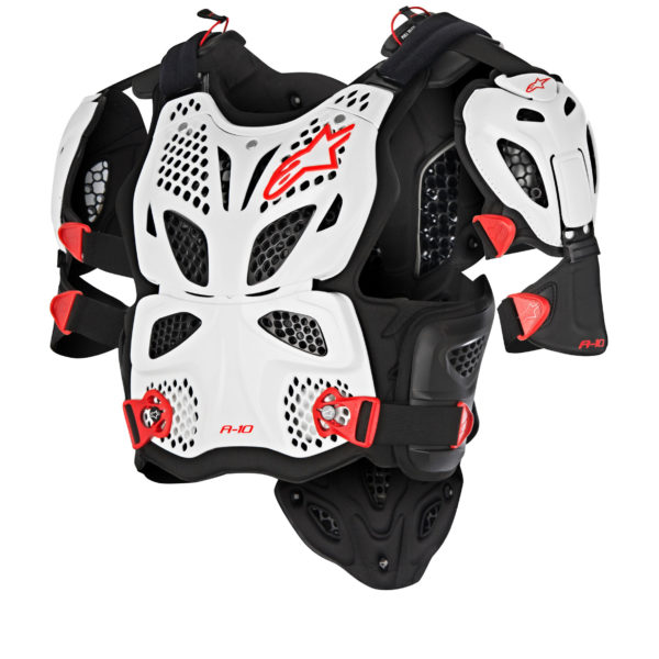 A-10 FULL CHEST PROTECTOR White/Red